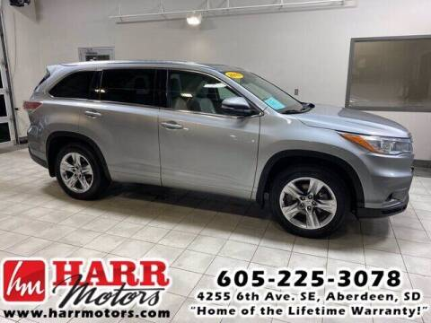 2015 Toyota Highlander for sale at Harr's Redfield Ford in Redfield SD