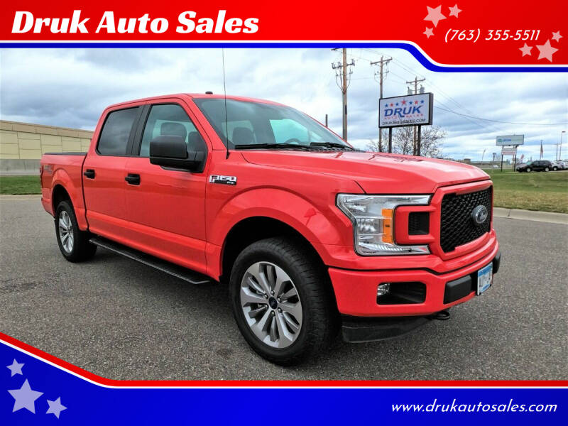 2018 Ford F-150 for sale at Druk Auto Sales in Ramsey MN