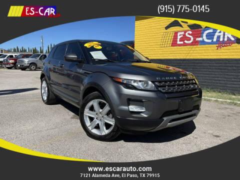 2015 Land Rover Range Rover Evoque for sale at Escar Auto in El Paso TX