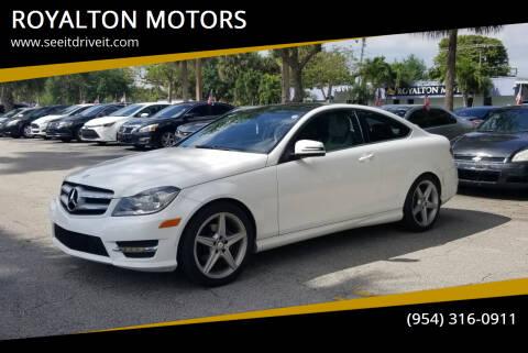 2013 Mercedes-Benz C-Class for sale at ROYALTON MOTORS in Plantation FL