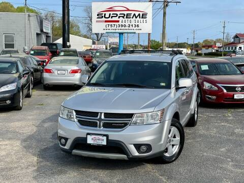 2012 Dodge Journey for sale at Supreme Auto Sales in Chesapeake VA