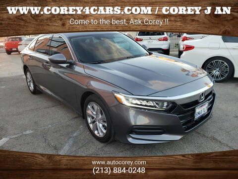 2019 Honda Accord for sale at WWW.COREY4CARS.COM / COREY J AN in Los Angeles CA