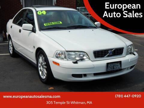 2004 Volvo S40 for sale at European Auto Sales in Whitman MA