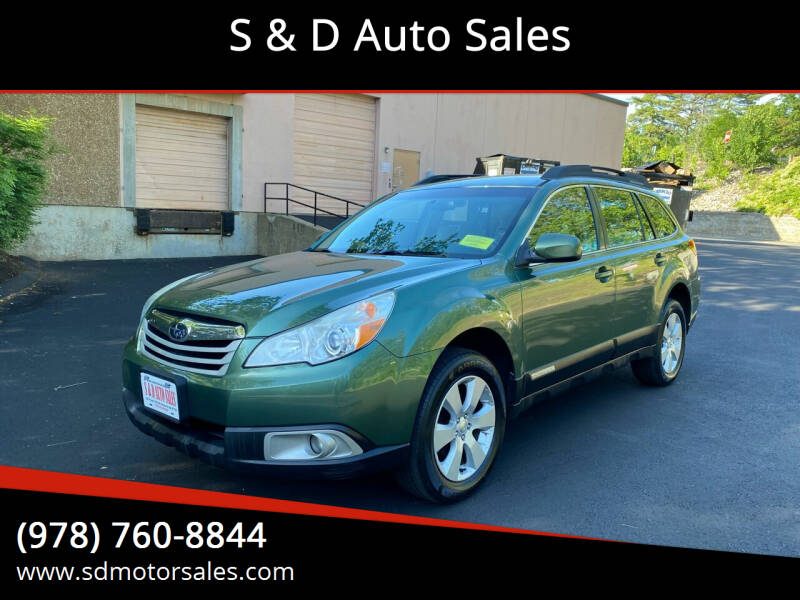 2012 Subaru Outback for sale at S & D Auto Sales in Maynard MA