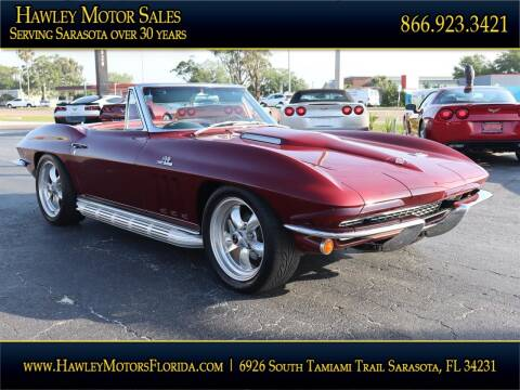 1966 Chevrolet Corvette for sale at Hawley Motor Sales in Sarasota FL