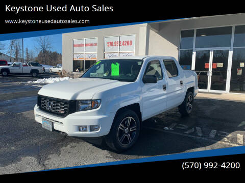 2014 Honda Ridgeline for sale at Keystone Used Auto Sales in Brodheadsville PA