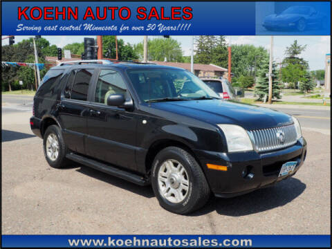 2003 Mercury Mountaineer for sale at Koehn Auto Sales in Lindstrom MN