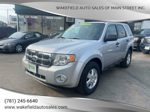 2012 Ford Escape for sale at Wakefield Auto Sales of Main Street Inc. in Wakefield MA