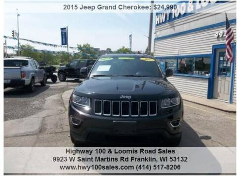 2015 Jeep Grand Cherokee for sale at Highway 100 & Loomis Road Sales in Franklin WI