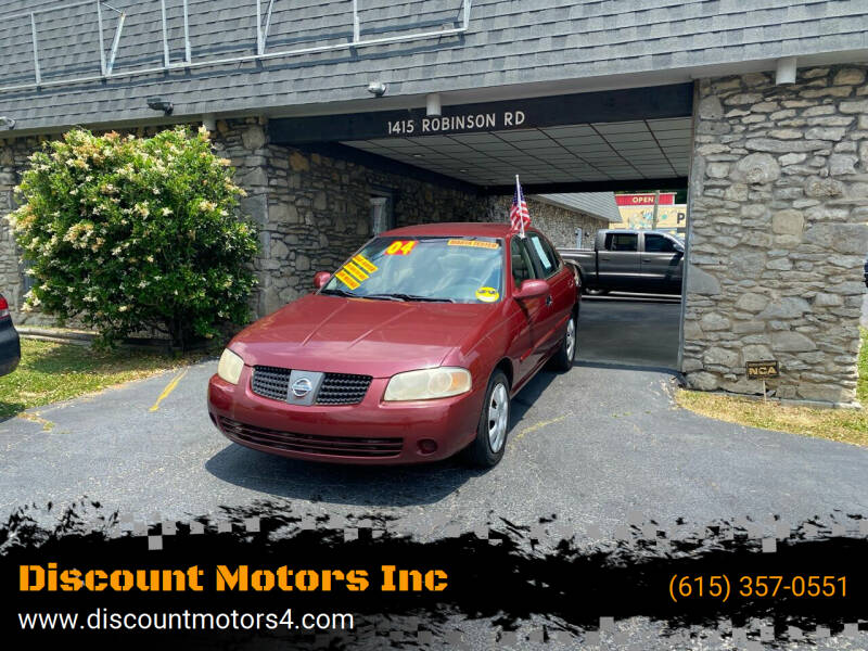 2004 Nissan Sentra for sale at Discount Motors Inc in Old Hickory TN