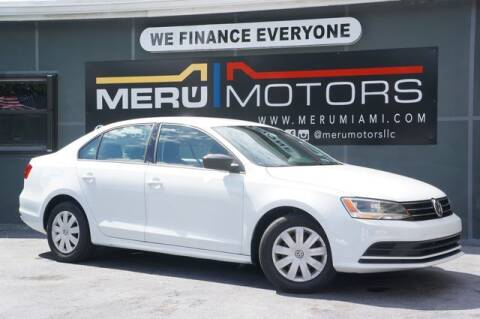 2015 Volkswagen Jetta for sale at Meru Motors in Hollywood FL