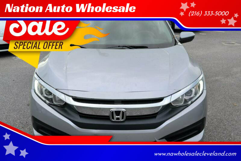 2016 Honda Civic for sale at Nation Auto Wholesale in Cleveland OH