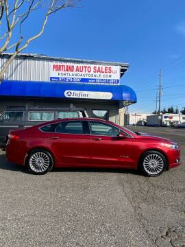 2014 Ford Fusion Hybrid for sale at PORTLAND AUTO SALES LLC. in Portland OR