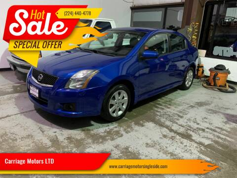2010 Nissan Sentra for sale at Carriage Motors LTD in Ingleside IL