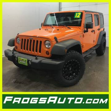 2012 Jeep Wrangler Unlimited for sale at Frogs Auto Sales in Clinton IA