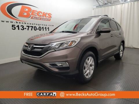 2015 Honda CR-V for sale at Becks Auto Group in Mason OH