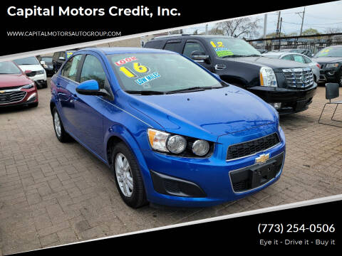 2016 Chevrolet Sonic for sale at Capital Motors Credit, Inc. in Chicago IL