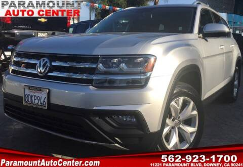 2018 Volkswagen Atlas for sale at PARAMOUNT AUTO CENTER in Downey CA