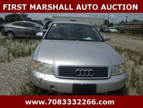 2002 Audi A4 for sale at First Marshall Auto Auction in Harvey IL