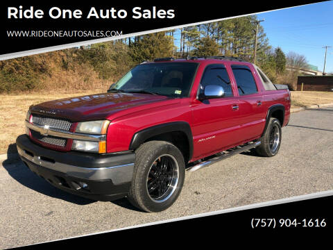 2006 Chevrolet Avalanche for sale at Ride One Auto Sales in Norfolk VA