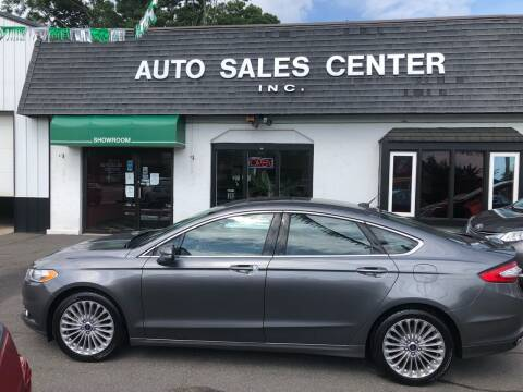 2014 Ford Fusion for sale at Auto Sales Center Inc in Holyoke MA
