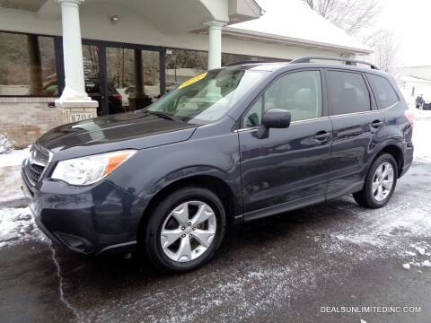 2015 Subaru Forester for sale at DEALS UNLIMITED INC in Portage MI