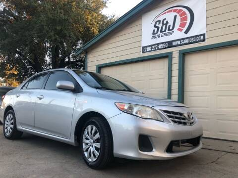 2013 Toyota Corolla for sale at S & J Auto Group in San Antonio TX