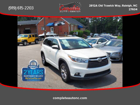 2015 Toyota Highlander for sale at Complete Auto Center , Inc in Raleigh NC