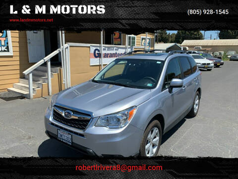 2016 Subaru Forester for sale at L & M MOTORS in Santa Maria CA