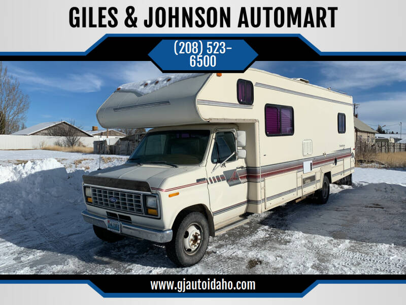 1991 Ford E-Series Chassis for sale at GILES & JOHNSON AUTOMART in Idaho Falls ID