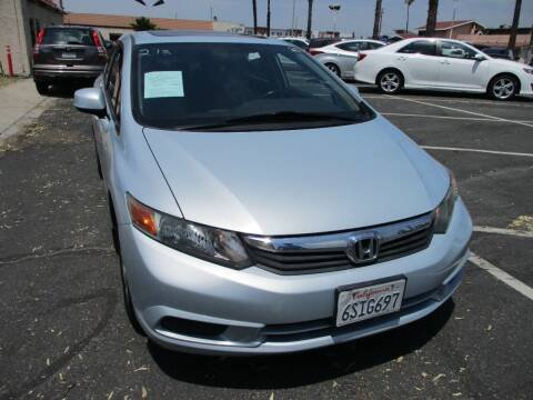 2012 Honda Civic for sale at F & A Car Sales Inc in Ontario CA