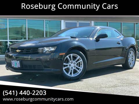2014 Chevrolet Camaro for sale at Roseburg Community Cars in Roseburg OR