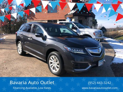 2016 Acura RDX for sale at Bavaria Auto Outlet in Victoria MN