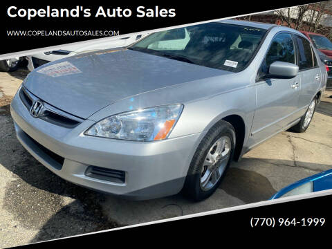 2007 Honda Accord for sale at Copeland's Auto Sales in Union City GA