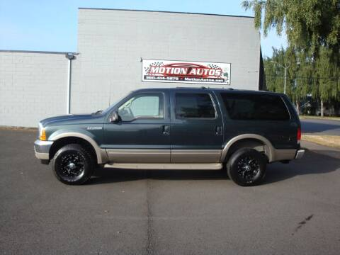 2001 Ford Excursion for sale at Motion Autos in Longview WA