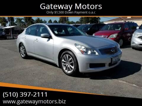 2009 Infiniti G37 Sedan for sale at Gateway Motors in Hayward CA