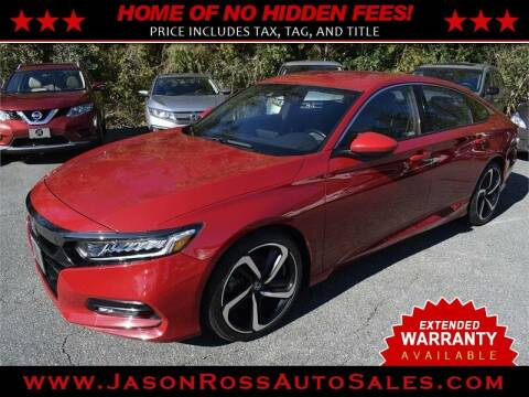 2018 Honda Accord for sale at Jason Ross Auto Sales in Burlington NC