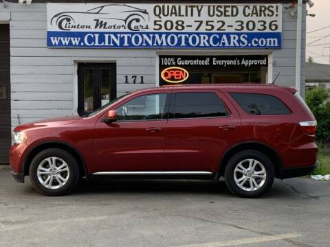 2013 Dodge Durango for sale at Clinton MotorCars in Shrewsbury MA