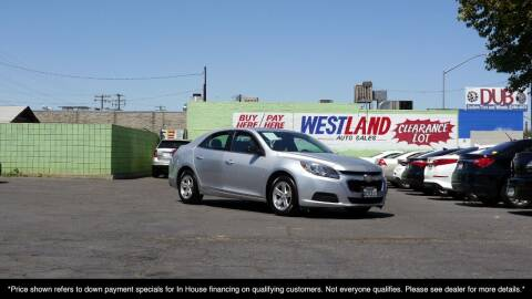 2015 Chevrolet Malibu for sale at Westland Auto Sales in Fresno CA
