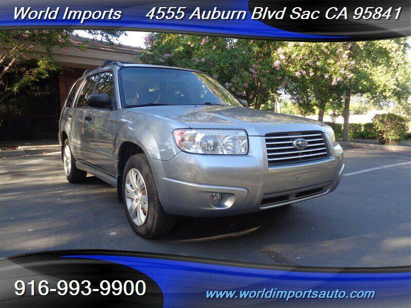 2008 Subaru Forester for sale at World Imports in Sacramento CA