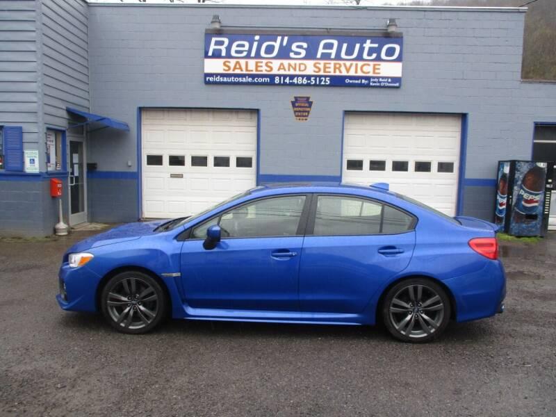 2017 Subaru WRX for sale at Reid's Auto Sales & Service in Emporium PA