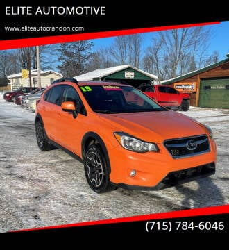 2013 Subaru XV Crosstrek for sale at ELITE AUTOMOTIVE in Crandon WI