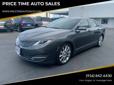 2016 Lincoln MKZ Hybrid for sale at PRICE TIME AUTO SALES in Sacramento CA