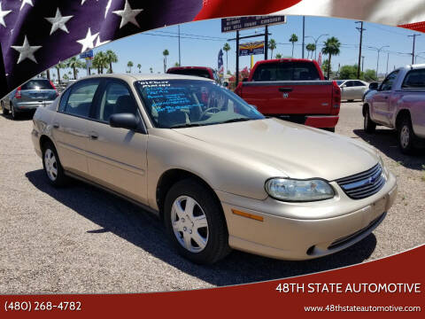 2001 Chevrolet Malibu for sale at 48TH STATE AUTOMOTIVE in Mesa AZ