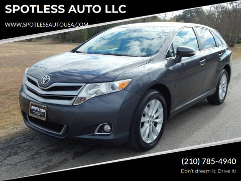 2013 Toyota Venza for sale at SPOTLESS AUTO LLC in San Antonio TX