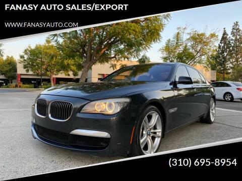 2010 BMW 7 Series for sale at FANASY AUTO SALES/EXPORT in Yorba Linda CA
