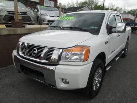 2014 Nissan Titan for sale at WORKMAN AUTO INC in Pleasant Gap PA