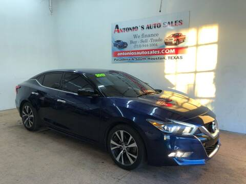 2017 Nissan Maxima for sale at Antonio's Auto Sales in South Houston TX