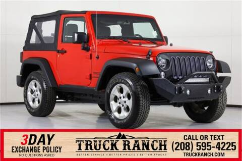 2015 Jeep Wrangler for sale at Truck Ranch in Twin Falls ID