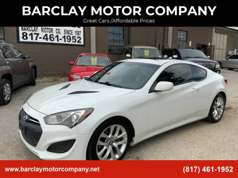 2013 Hyundai Genesis Coupe for sale at BARCLAY MOTOR COMPANY in Arlington TX